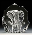 Elephant Leaded Crystal Sculpture
