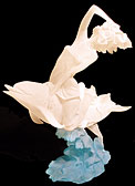 "Exclusive Dolphin & ""Sea Goddess"" Lucite Sculpture"