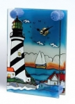 Stain Glass Lighthouse Clock