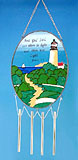 Stained Glass Lighthouse Wind Chime #A
