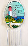 Inspirational Stained Glass Lighthouse Wind Chime