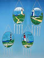 Inspirational Lighthouse Wind Chimes - Set of 4