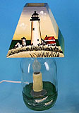 Ocracoke Lighthouse Jar Electric Candle Lamp
