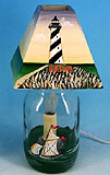 Hatteras Lighthouse Jar Electric Candle Lamp
