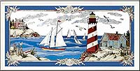 Stain Glass Lighthouse Art Panel