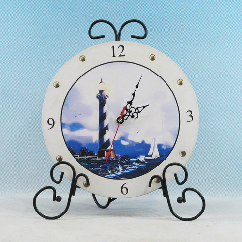 Lighthouse Clock with Easel Display