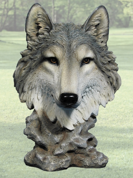 Quot gosheven wolf head sculpture lighthouses unlimited